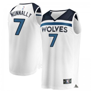 Fanatics Branded Minnesota Timberwolves Swingman White James Nunnally Fast Break Jersey - Association Edition - Youth